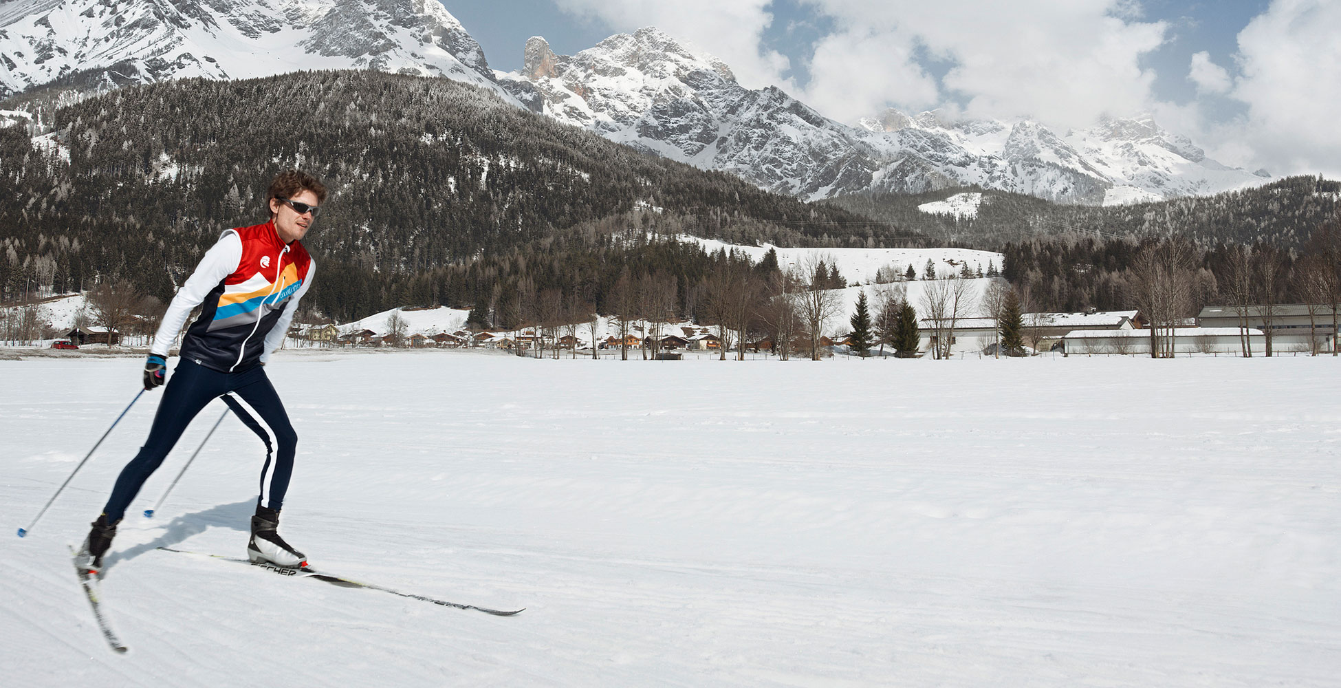 Cross-country-skiing in Leogang